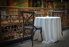 Table For Two Royalty Free Stock Images