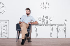 Table for two. Royalty Free Stock Photos
