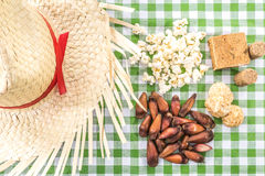 Table with typical Brazilian Sweets for the famous Junina Party Royalty Free Stock Image