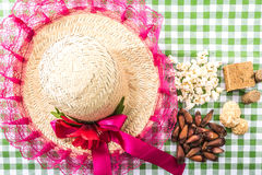 Table with typical Brazilian Sweets for the famous Junina Party Royalty Free Stock Photography