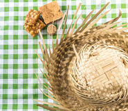 Table with typical Brazilian Sweets for the famous Junina Party Stock Photography