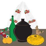 Table with Ukrainian cuisine Stock Photo