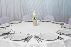 Table with utensils Stock Photography