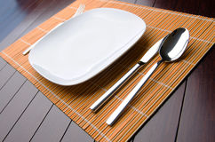 The table utensils served for the dinner Royalty Free Stock Photography