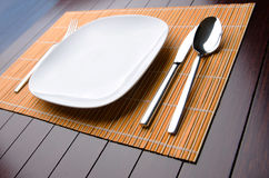 The table utensils served for the dinner Royalty Free Stock Photo