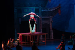 The table on the Vaudeville-Acrobatic showBaixi Dream Night Royalty Free Stock Photos
