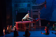 The table on the Vaudeville-Acrobatic showBaixi Dream Night Stock Photography