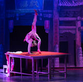 The table on the Vaudeville-Acrobatic showBaixi Dream Night Royalty Free Stock Photography