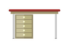 Table Vector Illustration in Flat Design. Royalty Free Stock Images