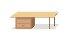 Table Vector Illustration in Flat Design Stock Image