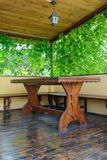 Table on the veranda Stock Images
