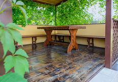 Table on the veranda Royalty Free Stock Image