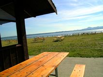 Table With A View 2. Bayview state park, Washington state , USA Royalty Free Stock Photo