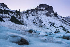 Table View. A view of the icy landscape around Table Mountain in the North Cascades National Park, Washington State, USA Stock Photography