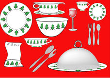 Table ware for christmas Stock Images