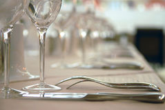 Table wares at restaurant Stock Photography