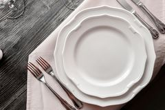 Table wares in the restaurant royalty free stock photos