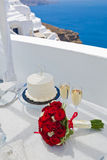 Table for the wedding ceremony Stock Photography