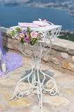 Table for wedding ceremony Royalty Free Stock Photography