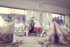Table wedding décorée Photos stock