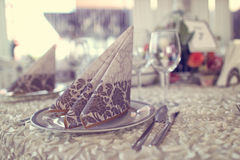 Table wedding décorée Photos libres de droits