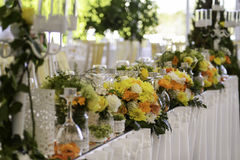 Table for wedding with details Stock Images