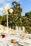 The Table for wedding or party Royalty Free Stock Image