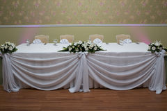 Table wedding Stock Photography