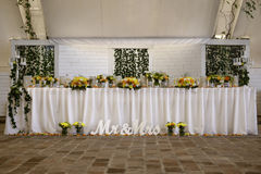 Table for wedding Stock Image