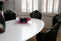 Table by window Stock Photo