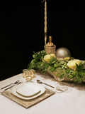 Table winter decoration Stock Photo