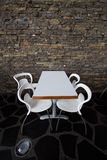 Table wirh chairs Stock Photo