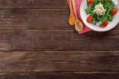 Table on Wooden Plank Royalty Free Stock Images