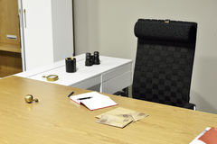 Table work in empty office room Stock Photo