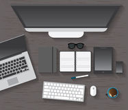 Table, Working, Businees, Meeting, High Angle View Stock Photos