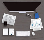 Table, Working, Businees, Meeting, High Angle View Royalty Free Stock Photo