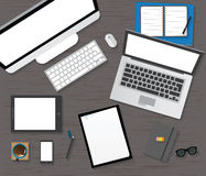 Table, Working, Businees, Meeting, High Angle View Stock Photo