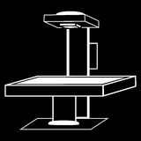 Table x-ray medical technology silhouette graphics Royalty Free Stock Photography