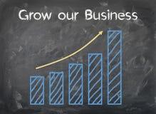 Tableau - élevez nos affaires - histogramme Images libres de droits