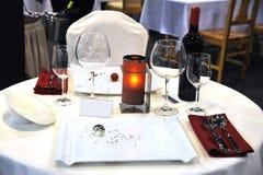 Tableau au restaurant Image libre de droits