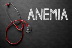 Tableau avec l'anémie illustration 3D Photos libres de droits