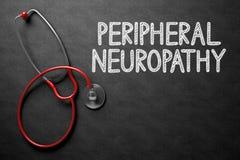 Tableau avec la neuropathie périphérique illustration 3D photographie stock