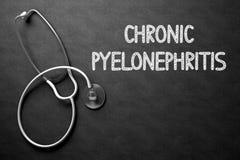 Tableau avec la pyélonéphrite chronique illustration 3D Photographie stock libre de droits