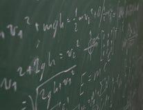 Tableau avec la science écrite Images libres de droits