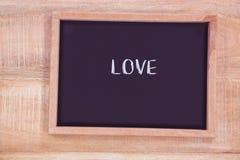 Tableau avec le texte d'amour Photo libre de droits