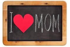 Tableau avec marquer avec des lettres je t'aime la maman Photo libre de droits
