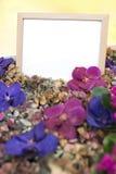 Tableau blanc dans le jardin Photo stock