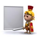 tableau blanc romain du soldat 3d Images stock