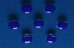 Tableau bleu de bulle Photographie stock