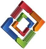 Tableau carré de processus - flèches 3D Photographie stock libre de droits